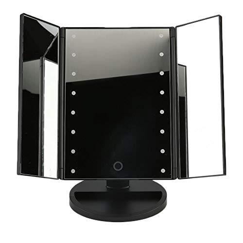 Draagbare klaptafel LED-lamp Lichtgevende make-upspiegel Cosmetisch tafelblad Aanrecht 16 LED-lampjes aanraaksensor