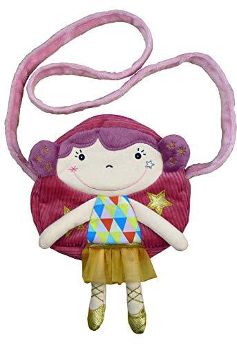 EBULOBO - Besace Betty - Petit Sac Fille - Collection Magic Circus - Sac enfant - Lavable en Machine à 30° - Velours Multi Matières