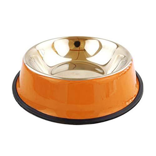 Zerama Edelstahl Haustiere Fressnapf Anti-Rutsch-Ungiftiger Hitzebeständige Tiere Futter Wasser Teller Teller