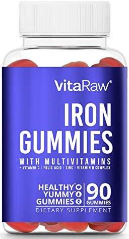 Iron Supplement Gummy Vitamins for Women Men Kids Immune Support Iron Gummies Include Multivitamin product image