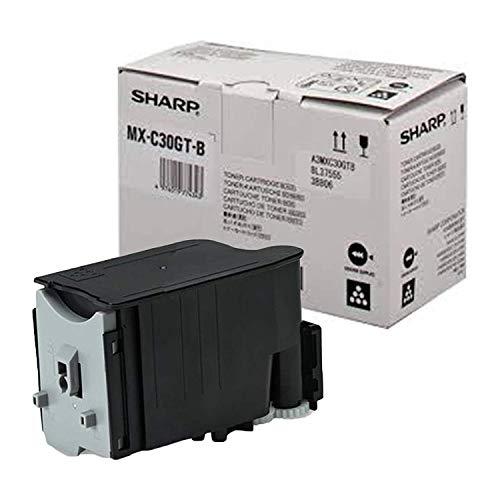 Original Toner passend für Sharp MX-C 301 W Sharp MXC-30 GTB MXC30GTB - Premium Drucker-Kartusche - Schwarz - 6000 Seiten