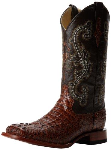 Ferrini Men's Print Crocodile S-Toe Western Boot,Sport Rust,11 D US