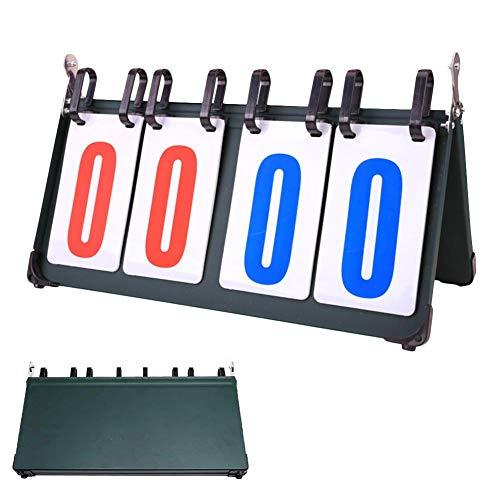 G-wukeer Tragbare Sportanzeigetafeln Ergebnis Keeper für Tennis Basketball Badminton Fußball