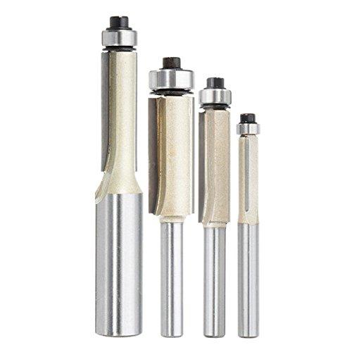 EU Hozly 6/x 22/mm Single Fl/ûte Fraises de fraisage pour aluminium CNC outils en carbure massif Lot de 2