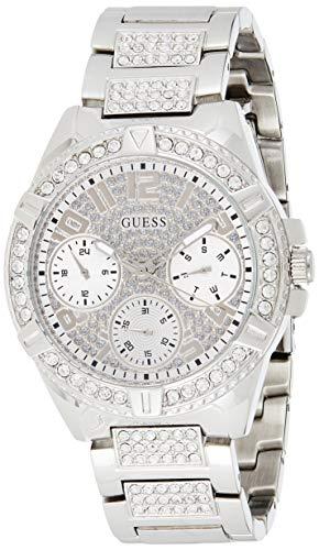 GUESS Damen-Armbanduhr 40mm Armband Edelstahl + Gehäuse Quarz Analog W1156L1