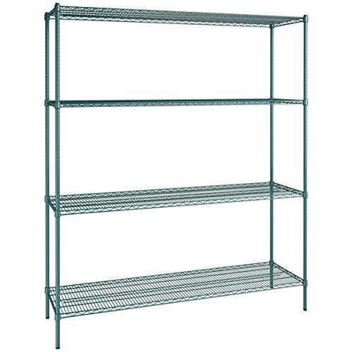 21 inch x 72 inch Green Epoxy 4 Shelf Kit with 86 inch Posts. Storage Shelf. Garage Storage Shelves. Shelving Units and Storage. Food Storage Shelf. Storage Rack. Kitchen Shelves. Bakers Racks