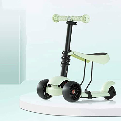 ZMDZA Roller for Kinder Roller Scooter for Einstellbare Höhe Lean mit Wide Deck PU Flashing Räder for Kinder von...