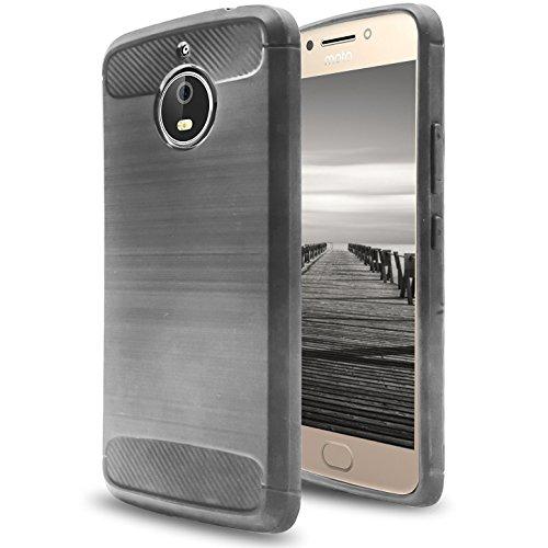 MYCASE] Silikon TPU Hülle für Motorola Moto E4 Plus   Grau   Matte Unifarben Design   Weich Leicht Bumper   Leicht Softcase   Handytasche Schutz Schutzhülle Tasche für Motorola Moto E4 Plus