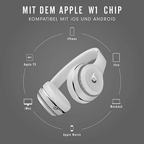 BeatsSolo3Kabellose Bluetooth On-EarKopfhörer- AppleW1Chip, Bluetooth der Klasse1, 40Stunden Wiedergabe- SatinSilber