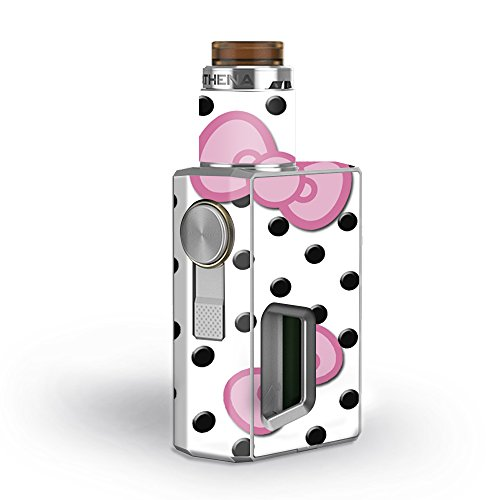 Skin Decal Vinyl Wrap for GeekVape Athena Squonk Kit Vape Kit skins stickers cover / Pink Bows