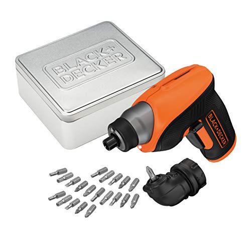 BLACK+DECKER CS3652LCAT-QW - Atornillador 3.6V, batería 1.5Ah, incluye 20 brocas y...