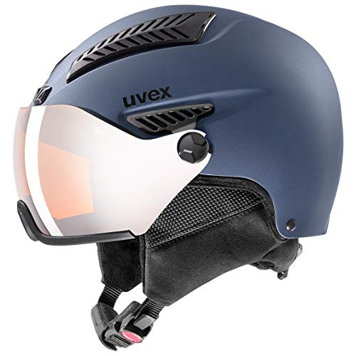 uvex Unisex- Erwachsene, hlmt 600 visor Skihelm, blue mat, 55-57 cm