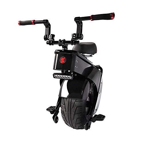 GJZhuan Elektro-Scooter 1500W EIN Rad Selbst Ausgleich Scooter Motorradsitz 28km / 45km / 60km / 90km 60V Elektro-Scooter Monowheel 18 Zoll Breitreifen (Size : 90KM)