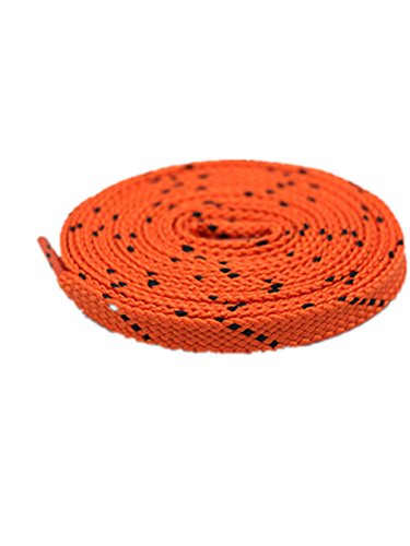 Boowhol 1 Paire de Lacets Plats Lacets de chaussure de Sports Baskets unisexe pour enfants Adultes Enfants (Orange noir, 100 CM)