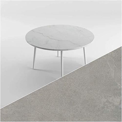 Mesa de cocina de comedor redonda para 6-8 personas, 1414 mm (6-8 personas), color gris