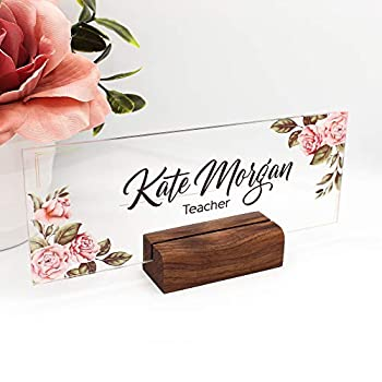 Personalized Desk Name Plate Plaque   Unique Gift   Wood Holder   Office Decor   Teacher Name Plate   Sign   Artswave