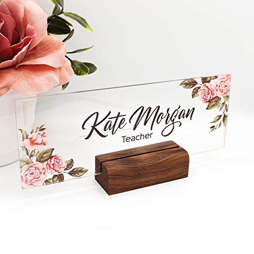 Desk Name Plate, Name Sign, Personalized Name Sign, Office Decor, Office Name Plate, Teacher Name Plate, Gift, Mother Gift