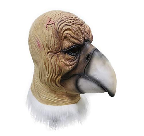 HENGYUTOY Maske Latex Hawk Kopf Maske Tier Weihnachten Halloween Kostüm Party Dekoration Zubehör Geier Kostüm