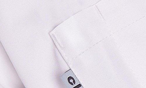 XQS Unisex Kitchen Short Sleeves Uniform Chef Classic Working Coat White XXS
