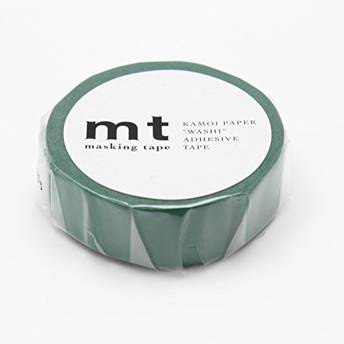 """MT Tape Solids Washi Paper Masking Tape, 3/5"""" x 33', Peacock (MT01P204), Peacock (0.6 in. X 11 Yds.)"""