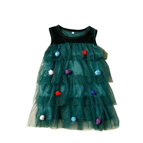 HSKB meisjesjurk bloemenprint swing party jurk kerstboom jurk zonder mouwen mesh garen bal goud fluweel cake rok