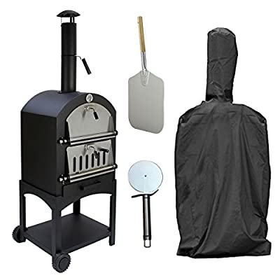 KuKoo Outdoor Pizza Oven BBQ/Accessories Rain Cover, Pizza Peel & Cutter/Garden Outside Barbecues Smoker Charcoal Fired Bread Meat Grill Gourmet Maker from MonsterShop