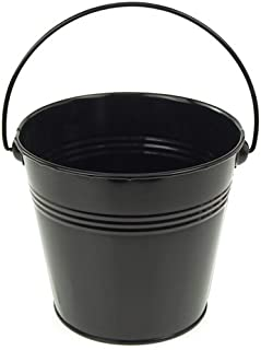 Homeford Firefly Imports Metal Pail Buckets Party Favor, 5-Inch, Black, 5