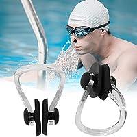 水泳ノーズクリップ、シリコントレーニングノーズクリップ、子供のための洗える耐久性のある再利用可能(black)