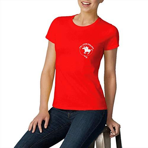Women's Neil Young Crazy Horse Logo Clothes T-Shirt Short Sleeve Red M Tee T Shirt CEW Neck Summer Tshirt for Women