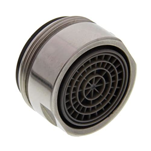 Aireador AG M24x1 de acero inoxidable satinado MZ, alta presión 117354 para Blanco Quadris – Grifo colador, accesorio para grifo, boquilla mezcladora, regulador de chorro