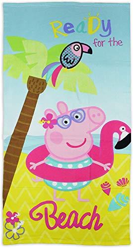 Peppa Pig Asciugamano da spiaggia per bambini in microfibra 70x140 CM