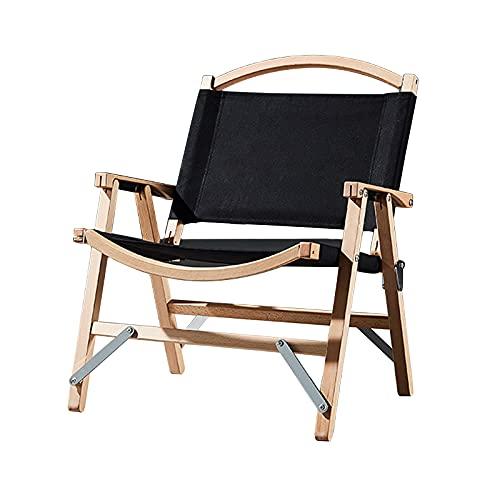Silla plegable de madera maciza sillón portátil silla de lona para acampar...