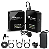 Pixel Wireless Lavalier Microphone - Compact Wireless Microphone System...