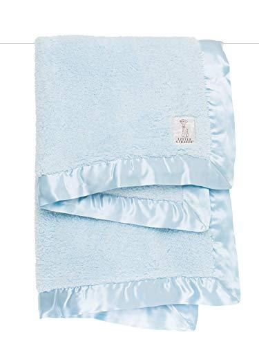 """Little Giraffe Chenille Stroller Baby Blanket, Blue, 29"""" x 35"""""""