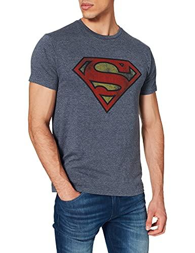 Superman T-Shirt Camiseta, Azul, L para...