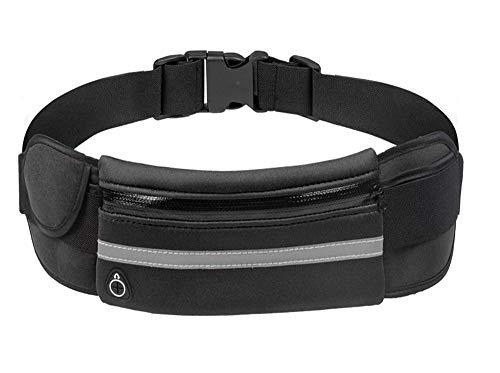ZHLU Wasserdichte Fitness-Reise-Tasche mit Earphone Jack, geeignet für Outdoor-Aktivitäten wie Joggen, Radfahren, Etc,Black