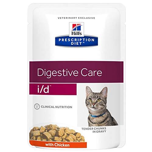 Hills i/d Verschreibungspflichtiges Katzenfutter, Verdauungspflege – Huhn (Sparpack: 24x85 g, 276472.5)