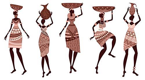 dekodino® Wandtattoo Afrika Frauen im Gewand Wandsticker Deko