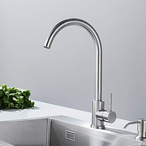Auralum® Armatur Einhebel Wasserhahn Waschtischarmatur Wasserfall Waschbecken Bad Küche - 8