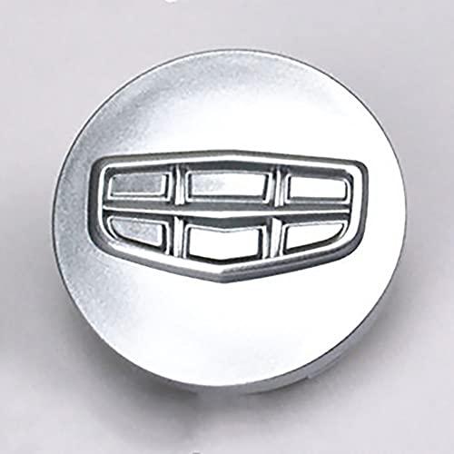 YYKJZ 4 pz/Set 56mm Mozzo Ruota Coprimozzo Coprimozzo Coprimozzo Adesivo Distintivo, Compatibile per EC718 EC715RV Geely Vision Serie GC7 Accessori per la Decorazione Auto