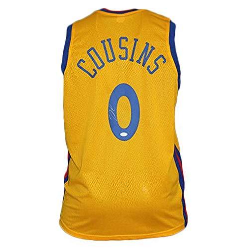 DeMarcus Cousins Autographed'The Bay' Basketball Jersey Yellow (JSA) - Autographed NBA Jerseys