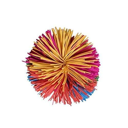 Mono Fibrosas Bolas De Colores del Arco Iris Bola Animosa Pom Bola Suave Diversión Activa De Juguetes Antiestrés Bolas De Juguete para Adultos Hombres Mujeres Niños