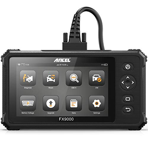 ANCEL FX9000 All System OBD2 Scanner Automotive Code Reader 7'' Touch Screen Android Tablet with ABS Bleeding BMS TPS DPF IMMO SAS Calibration EPB TPMS AFS Oil Reset Diagnostic Scan Tool