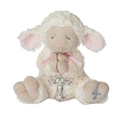 Ganz Serenity Lamb With Crib Cross Christening or Baptism Gift (Pink (Girl)) by GanzUSA