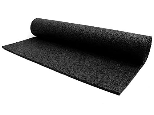 Gummi-Granulat Bodenschutz-Matte Meterware - 1,20m x 1,00m, Anti-Rutsch Unterlegmatte für Fitness- und Elektrogeräte