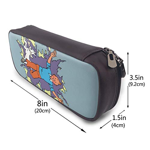 Thj kdvjaturjs df Tcatca Big Capacity Leather Trousse Case Pencil Pouch Box drdpje rganvk Sac pratique bag Holder With Zipper Size-20cmx9cmx4cm