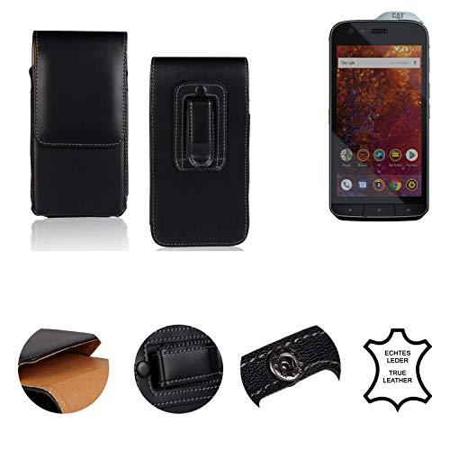 K-S-Trade® Holster Gürtel Tasche Für Caterpillar Cat S61 Handy Hülle Leder Schwarz, 1x