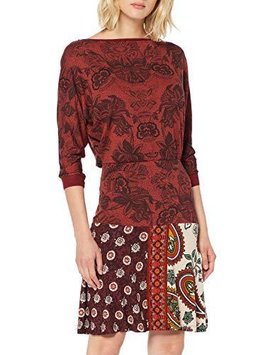 Desigual Dress Indira Vestido, Rojo (Borgoña 3007), M para Mujer
