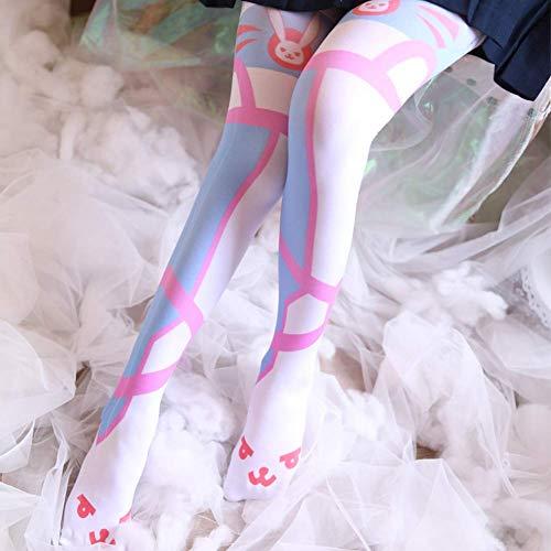 Ogquaton Hohe Lange weiße Strümpfe beobachten Pioneer Anime hohe Socken Oberschenkel Fußabdrücke Kniestrümpfe Cos Cos kreativ und nützlich