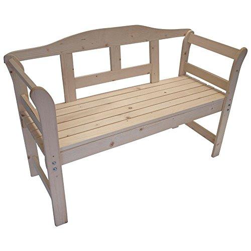 Gartenbank 2-Sitzer 120x43x72,5cm Friesenbank Massivholz natur unbehandelt